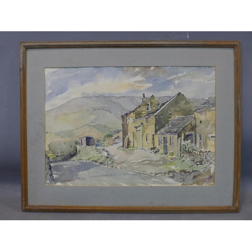 316 - Ernest Middleton, a well known local artist in the Huddersfield area, produced in the late 60's, fra...