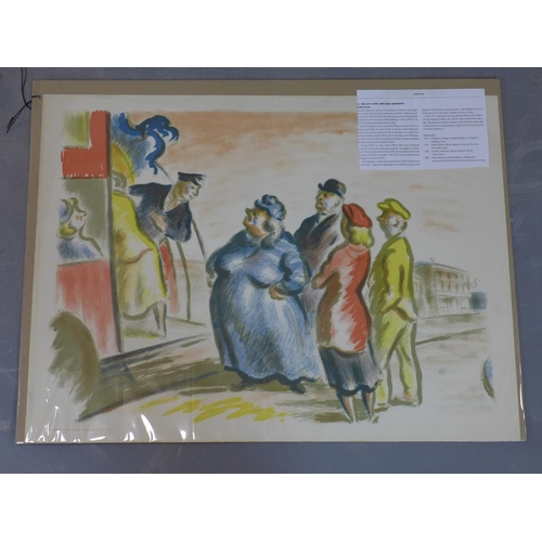 318 - Edward Ardizzone (British, 1900 -1978), 'The Bus Stop', Lithograph, signed in the stone printed by C...