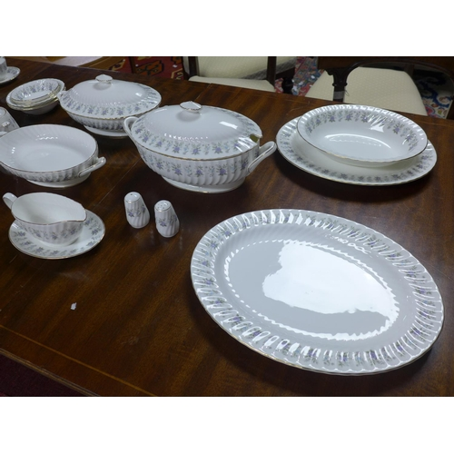 24 - 180 pieces set Minton Alpine Spring pattern comprising   Small plates, (12), Side plates (11), Dinne...