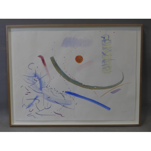 101 - Hermione Holmes (20th century), abstract study, watercolour, signed 'Mani 87' in pencil to lower rig...