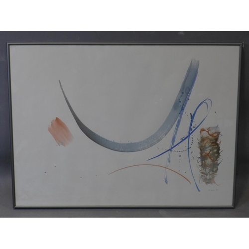 102 - Hermione Holmes (20th century), abstract study, watercolour, signed 'Mani 87' in pencil to lower rig...