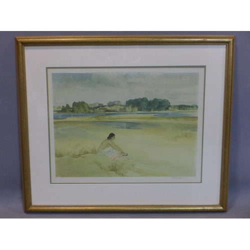 132 - Sir William Russell Flint RA (1880-1969), 'L'Anne-Marie by the Loire', signed in pencil, with the bl...