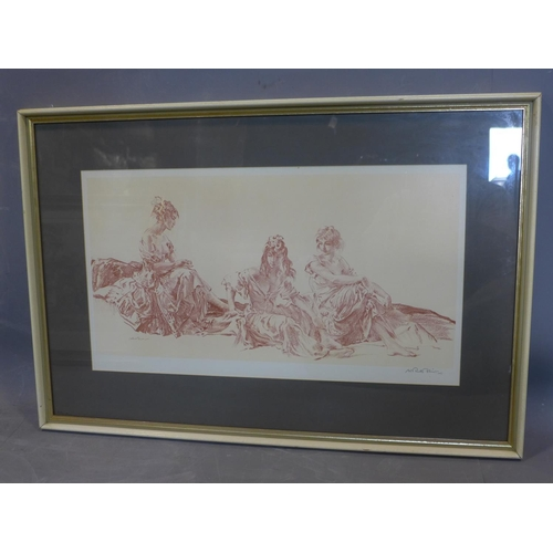 133 - Sir William Russell Flint RA (1880-1969),'Teresa, Yolande and Anne-Marie', signed in pencil, with th...