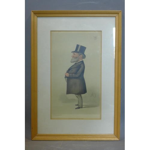201 - Carlo Pellegrini (1839 – 1889), caricature of Sir James Corry, 1st Baronet, , 'A temperate Ulster ma...