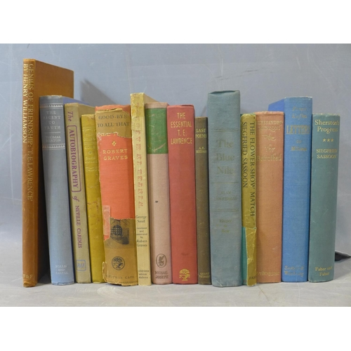 291 - A collection of Books including ... 1. Siedfried Sassoon, 'Sherston's Progress', 1st Edition, publis...