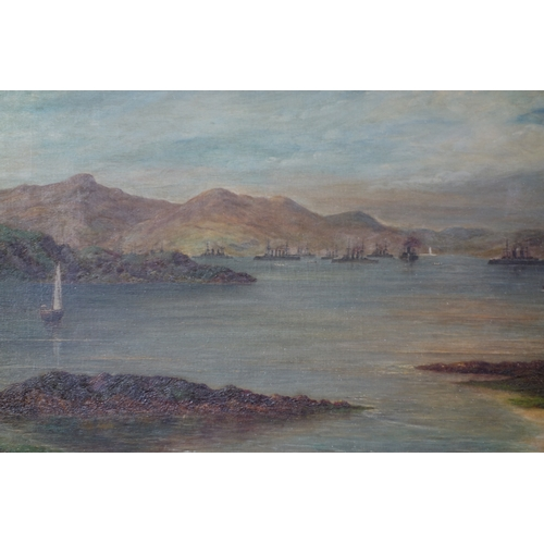 213 - Attributed to Sir George Reid (1841-1913), 'Steam Yachts on the Firth of Clyde', oil on canvas, sign...