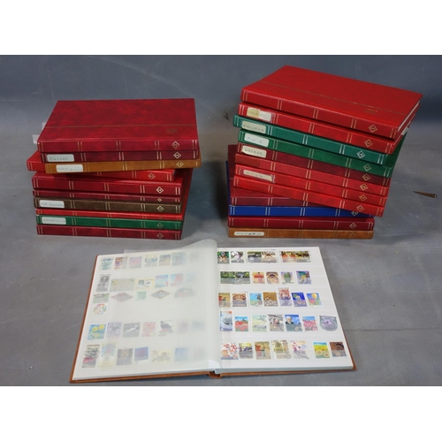 625 - A collection of approx. 23 albums of international stamps (most not full)...