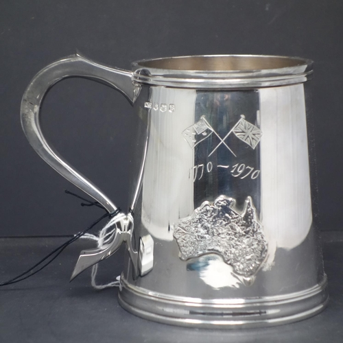 3 - Two silver tankards commemorating The Voyage of L T James Cook in HM Bark Endeavour 1770-1970, limit...