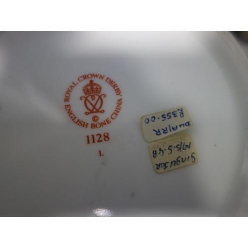 603 - Two Royal Crown Derby porcelain ginger jars, biggest H.19cm, smallest H.12cm...