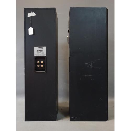 565 - A pair of B&W tall speakers model DM603, H.85 W.24 D.30cm...