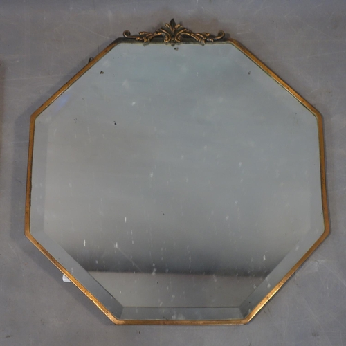 596 - Two early 20th century mirrors with bevelled edges...