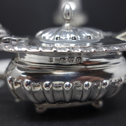 3 - A collection of silver, to include a sugar caster, Birmingham 1911, makers mark GMC, H.20.5cm; a Vic...