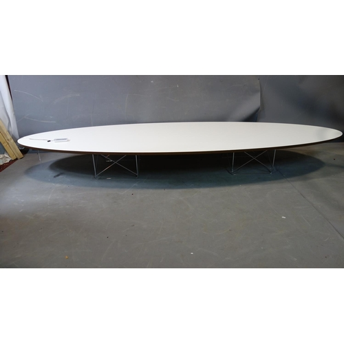 217 - A Charles Eames for Vitra 'Elliptical' table, , H.25 W.225 D.75cm...