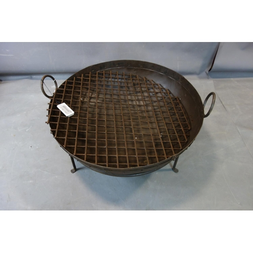 264 - A Kadai style fire pit, with fire grate, H.48cm Diameter 87cm...