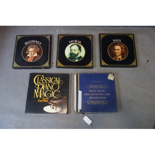 582 - 5 boxed collections of classical L.P.'s, including Beethoven and Bach