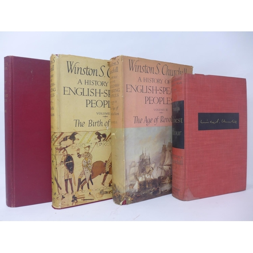 538 - Winston S. Churchill, 'A History of the English-Speaking Peoples', 3 Vols (1 missing and 1 without d...