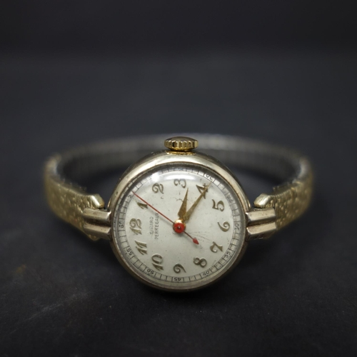 530 - A vintage Girard-Perregaux 10ct gold filled ladies cocktail watch, the dial with gilt Arabic numeral...