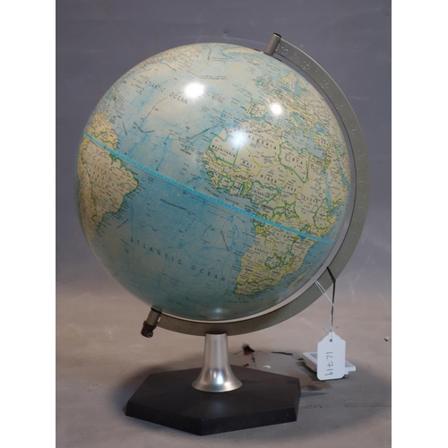 574 - A terrestrial globe on stand, by Scan Globe AS, Denmark, 1983, H.43cm...