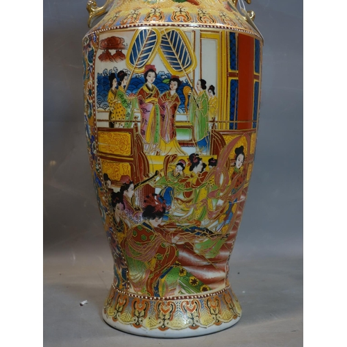 546 - A large pair of 20th century Chinese vases, H.60cm...
