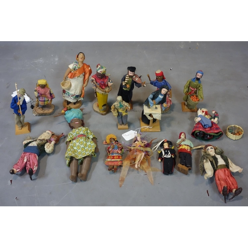 535 - A collection of vintage dolls from Israel...