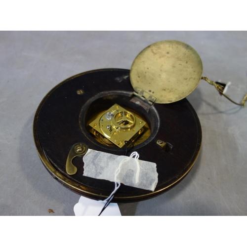 531 - An early 19th century circular sedan clock, the 4