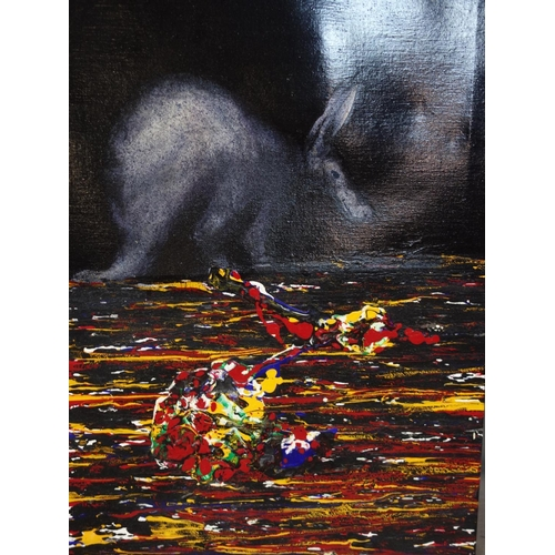 329 - Grant Kennedy (Contemporary artist), 'Aardvark II', oil on canvas, signed, titled and dated 2006 to ...
