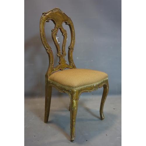 287 - An early 20th century gilt wood chair...