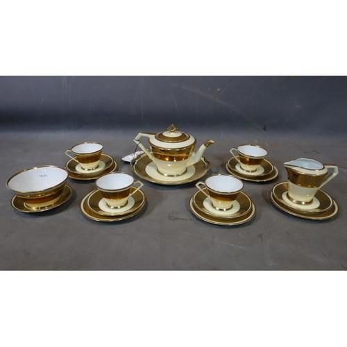 10 - A 20th century Noritake part gilt tea set...