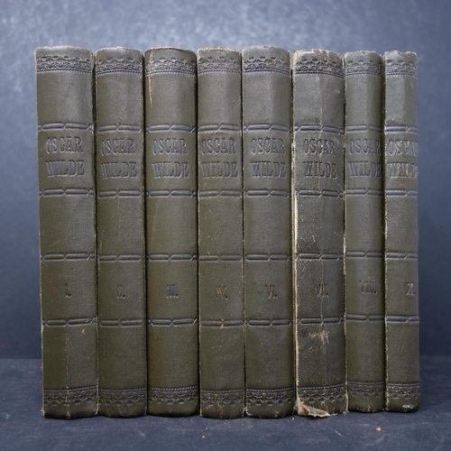 46 - A set of 8 Oscar Wilde volumes, missing numbers 5 and 9...