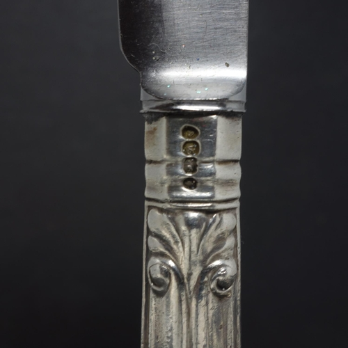 19 - A collection of eleven 19th century silver handled knives, comprising five Victorian knives and five...