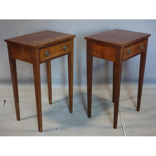 142 - A pair of Georgian style mahogany side tables, H.66 W.41 D.31cm...