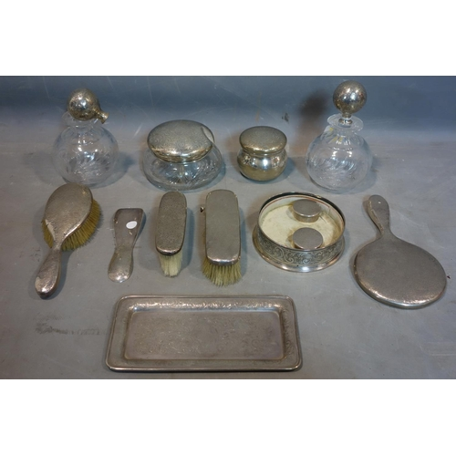 13 - A sterling silver dressing table set by Black Starr & Frost of New York...