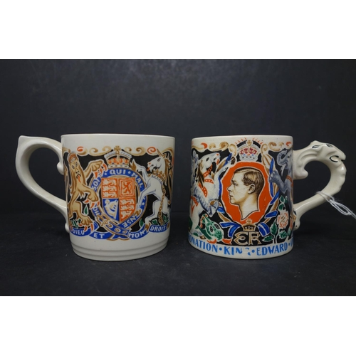 34 - Two Laura Knight coronation mugs for Edward VIII, 1 with certificate...