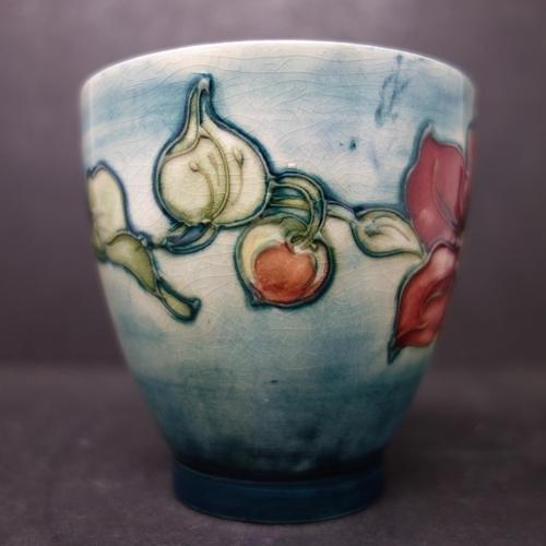 28 - A vintage Moorcroft 'Clematis' small planter pot, H.9cm...