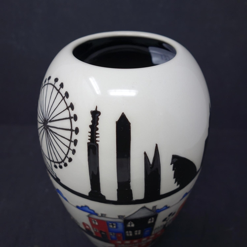 16 - A Moorcroft 'Londinium' Vase, by Nicola Stanley 2017 1st Quality, with price tag, H.18cm...