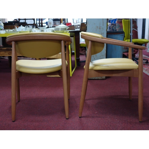 19 - A set of 10 Kai Kristiansen style dining chairs...