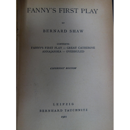48 - A set of 12 novels by Bernard Shaw, published in Leipzig by Bernhard Tauchnitz, dating from 1913 to ...