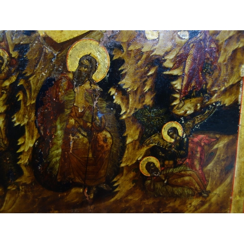 6 - A Russian icon of the Prophet Elijah, tempera on wood panel, 36 x 31cm...