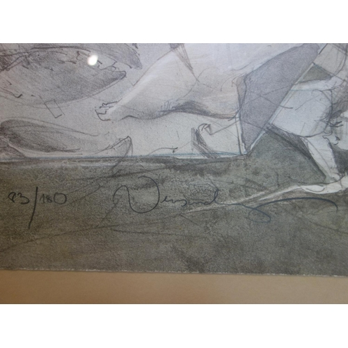 101 - Jurgen Gorg b.1951, a limited edition lithograph, signed and numbered 83/180 in pencil, 75 x 57cm...