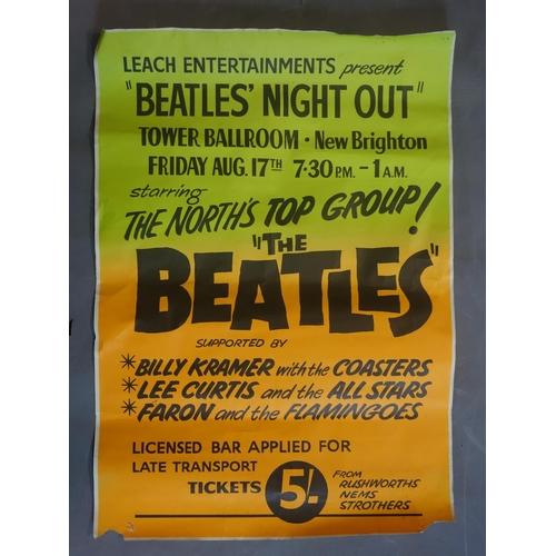 135 - A reproduction Beatles poster, 74 x 51cm...