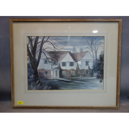 235 - Peter Lowry, study of a house, watercolour, 36 x 51cm...