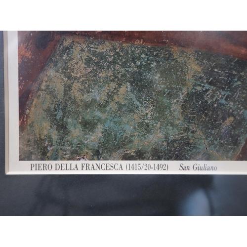 255 - WITHDRAWN- After Piero Della Francesca, 'San Giuliano', printed poster, the original is in the Museo...