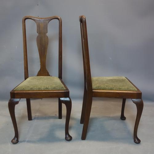 256 - A set of 6 Edwardian mahogany dining chairs, one damaged...