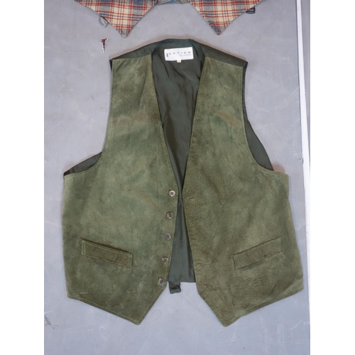 297 - A collection of six gentleman's waistcoats together with a gentleman's jacket with jazz design linin...