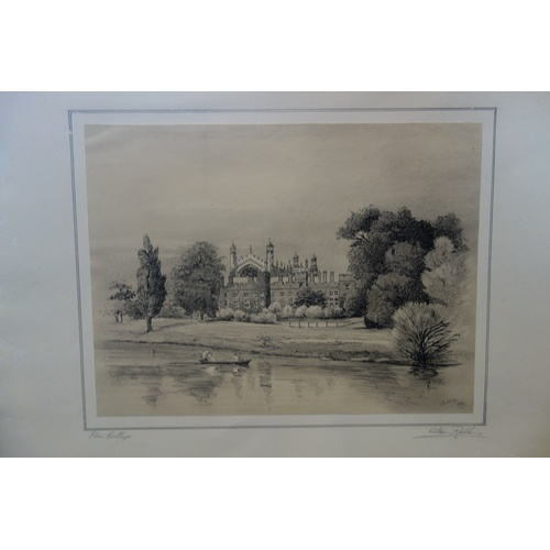 46 - Two early 20th century etchings of Windsor castle and Eton College, each signed by Alex Robb and dat...