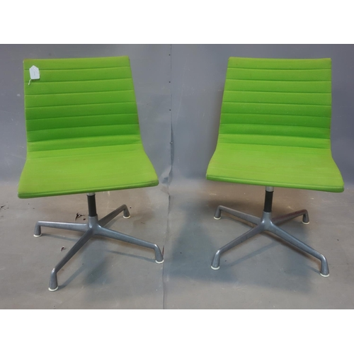 133 - A set of four 1970's 'Aluminium Group E116' chairs designed by Charles and Ray Eames for Herman Mill...