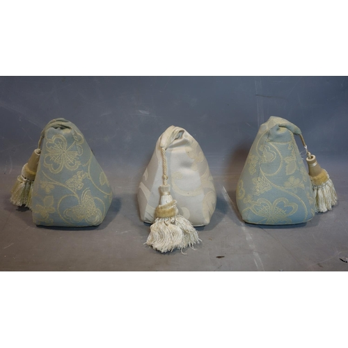 144 - A set of 3 good quality French curtain weights...