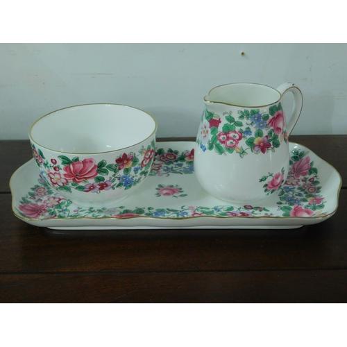 131 - A Royal Staffordshire millefiori tea set for 6...