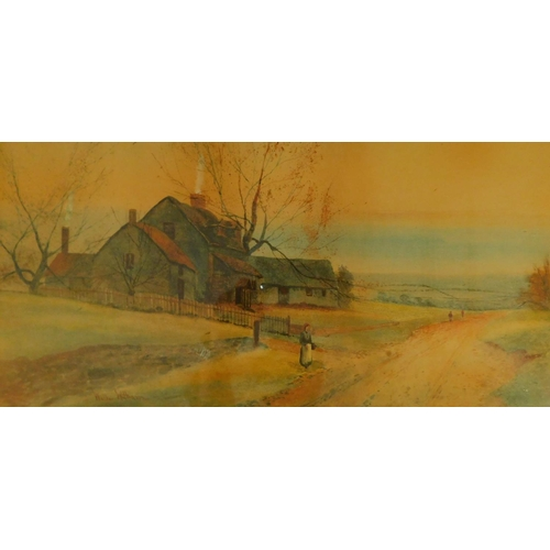 335 - A pair of 19th century framed and glazed watercolours, country landscapes. H.49 W.73cm...