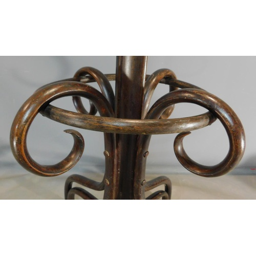 239 - A 19th century bentwood hat and coatstand H.196cm...